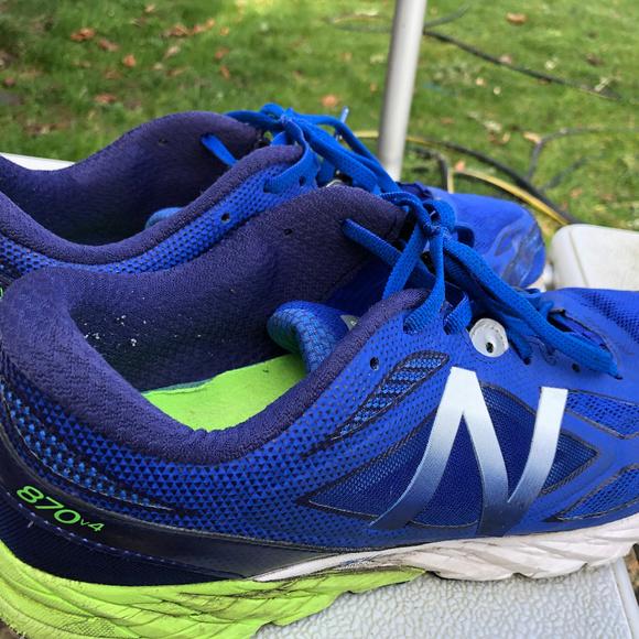 size 40 f7b5a d4546 New Balance 870V4 Asym Men's Blue/White Sneakers